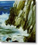 Rocky Coast Of Maine Metal Print