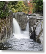 Rocky Falls In The Adirondack Mountains - New York Metal Print
