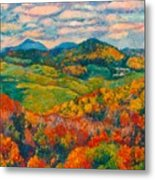 Rocky Knob In Fall Metal Print