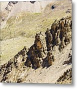 Rocky Landscape - 3 - French Alps Metal Print
