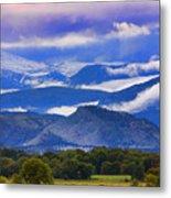 Rocky Mountain Cloud Layers Metal Print