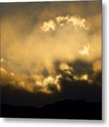 Rocky Mountain Continental Divide Sunset Metal Print