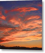 Rocky Mountain Front Range Sunset Metal Print