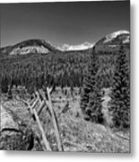 Rocky Mountain National Park Black And White Metal Print