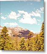 Rocky Mountain Panorama Too Metal Print