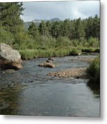 Rocky Mountain Stream Metal Print