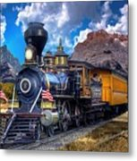 Rocky Mountain Train Metal Print
