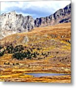 Rocky Mountain Tundra And Lake Metal Print