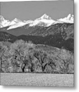 Rocky Mountain View Bw Metal Print