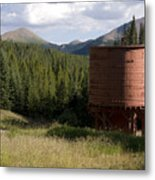 Rocky Mountain Water Tower Metal Print