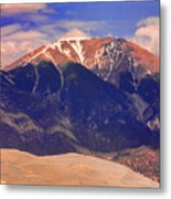 Rocky Mountains And Sand Dunes Metal Print