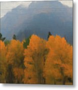 Rocky Mountains Colorado Autumn  Metal Print