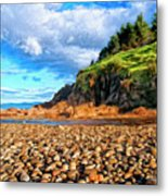 Rocky Oregon Beach Metal Print