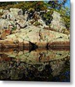 Rocky Reflection Metal Print
