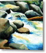Rocky River Run Metal Print