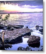 Rocky River Shore Metal Print