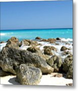 Rocky Shore--cancun Metal Print