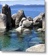 Rocky Shore Metal Print by Janet Fikar