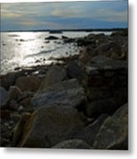 Rocky Shore Sunset Metal Print