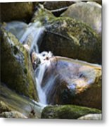 Rocky Water Closeup Metal Print