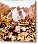 Rocky Water Wilderness Metal Print