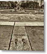 Rocky's Footprints Metal Print by Jack Paolini
