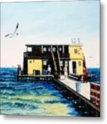 Rod And Reel Fishing Pier Metal Print