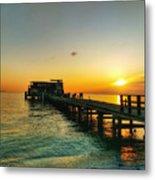 Rod And Reel Pier Sunrise 2 Metal Print
