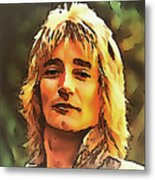 Rod Stewart Collection 1 Metal Print