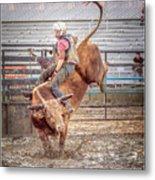 Rodeo Cowboy Metal Print