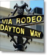 Rodeo Drive In Beverly Hills Metal Print