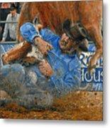 Rodeo Houston --steer Wrestling Metal Print