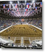 Rodeo Time In Texas Metal Print