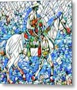 Rodeo Wrangler Mosaic Metal Print