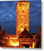 Rodertor At Twilight In Rothenburg Metal Print