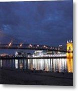 Roebling Bridge Span Metal Print