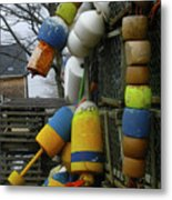 Roger's Buoys Metal Print
