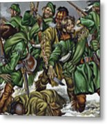 Rogers Rangers Fought A Hand-to-hand Battle In The Snow With The French And Indians Metal Print