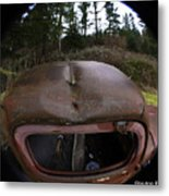 Roll Over Old Truck Metal Print
