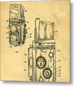 Rolleiflex Medium Format Twin Lens Reflex Tlr Patent Metal Print by Edward Fielding