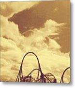 Roller Coaster Rides Metal Print