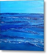 Rolling Blue, Triptych 3 Of 3 Metal Print