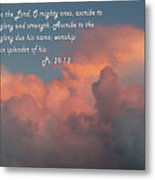 Rolling Clouds Sunset Ps.29 V 1-2 Metal Print