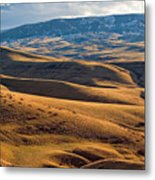 Rolling Foothills And The Bighorn Mountains Metal Print