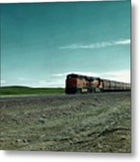 Rolling Freight Train Metal Print