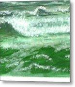 Rolling Ocean Waves Metal Print
