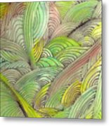 Rolling Patterns In Greens Metal Print