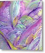 Rolling Patterns In Pastel Metal Print
