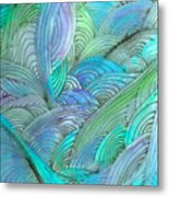 Rolling Patterns In Teal Metal Print