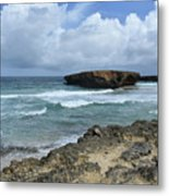 Rolling Waves On The Beach Known As Boca Keto Metal Print